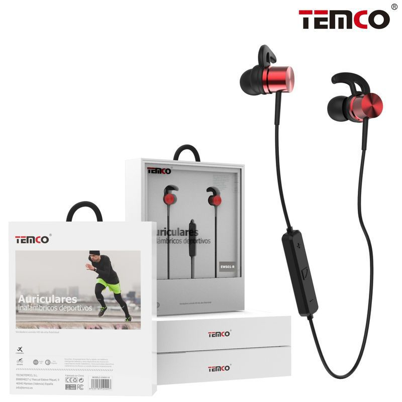 Red Bluetooth Sports Headphones