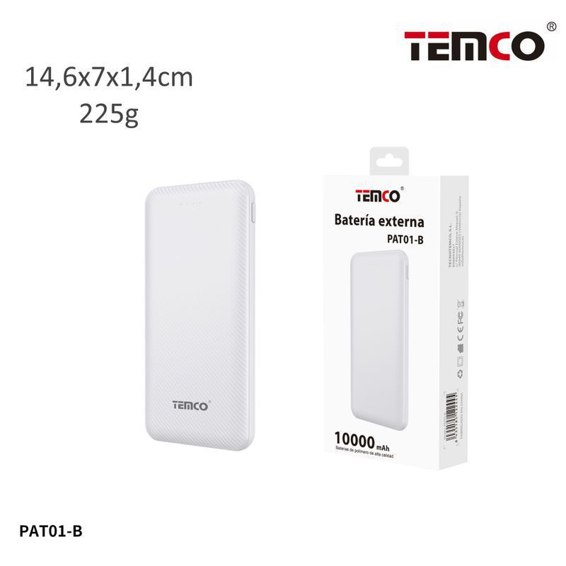 External battery 10000mAh 2.1A White
