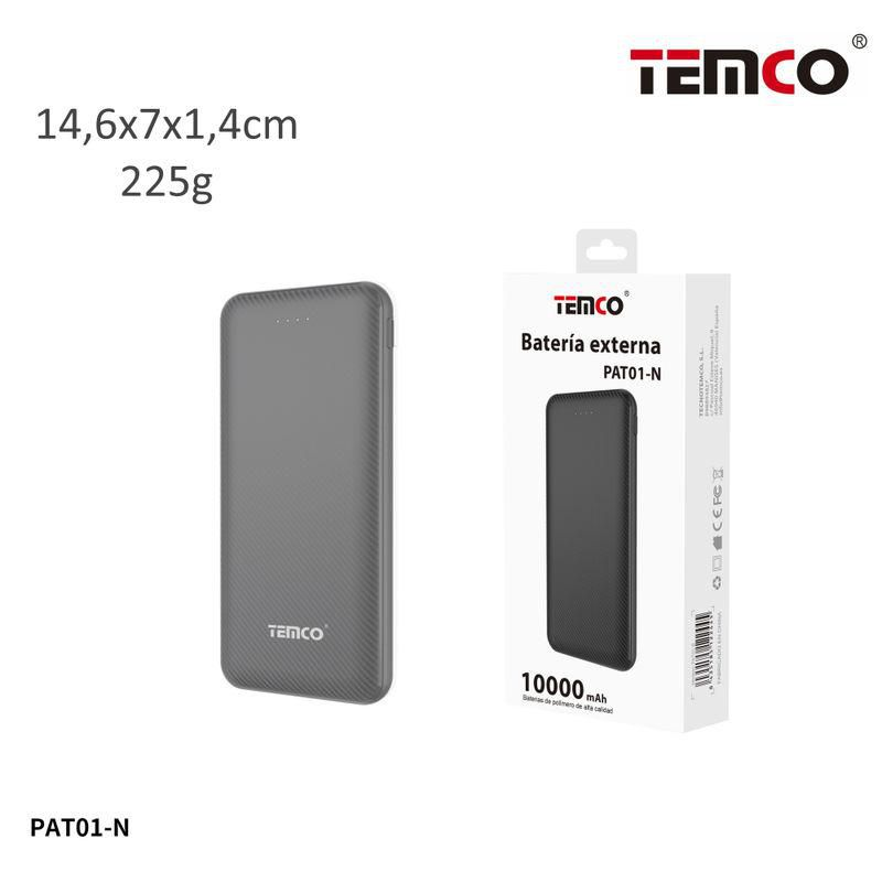 External battery 10000mAh 2.1A Black