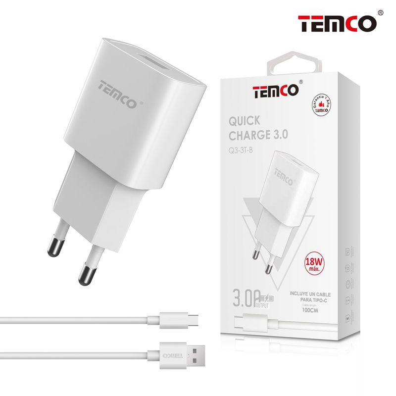 Charger QC 3.0 + Type C 5V 3A White