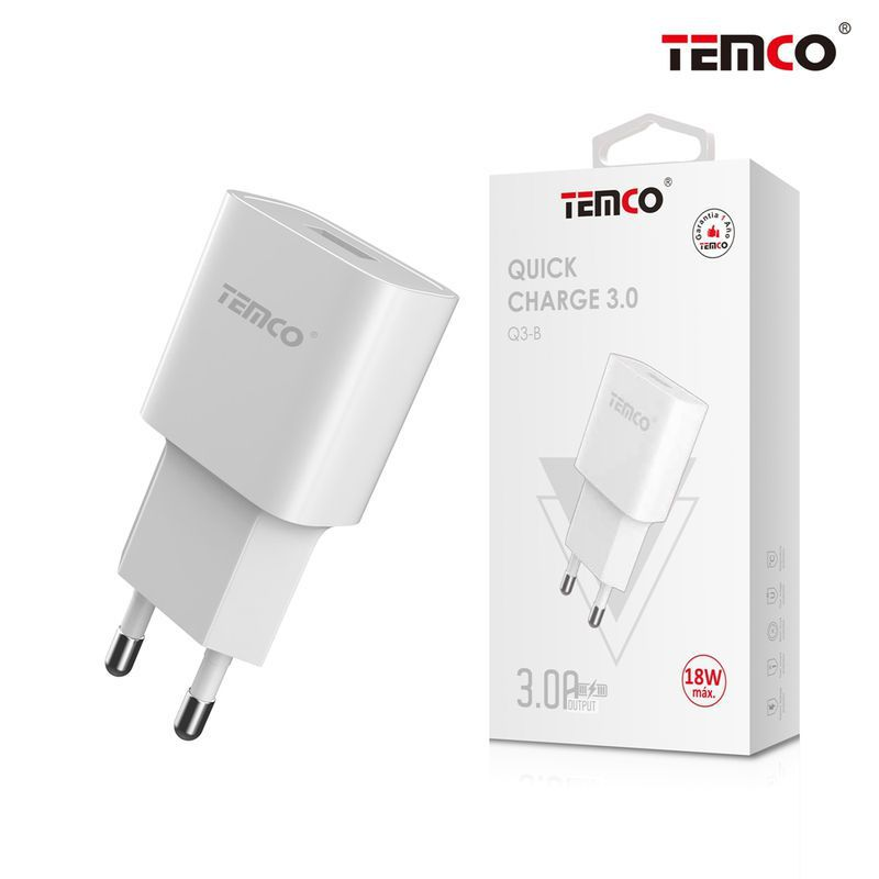 q3  adaptador cargador red  q.c. 3.0 blanco