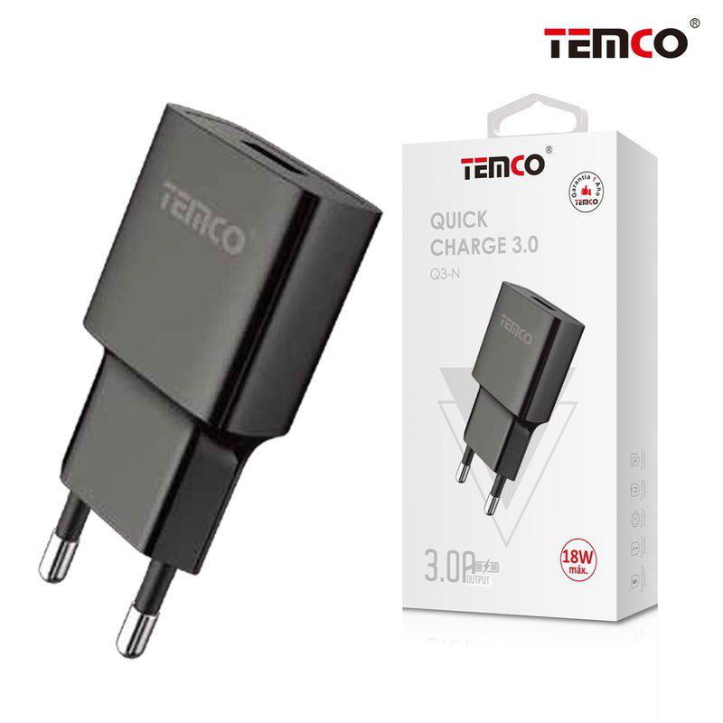 Q3 Adapter Charger Network QC 3.0 Black