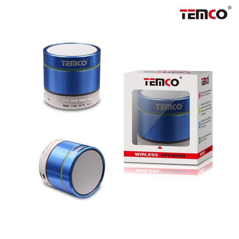 Blue Smooth Mini Cylinder Speaker