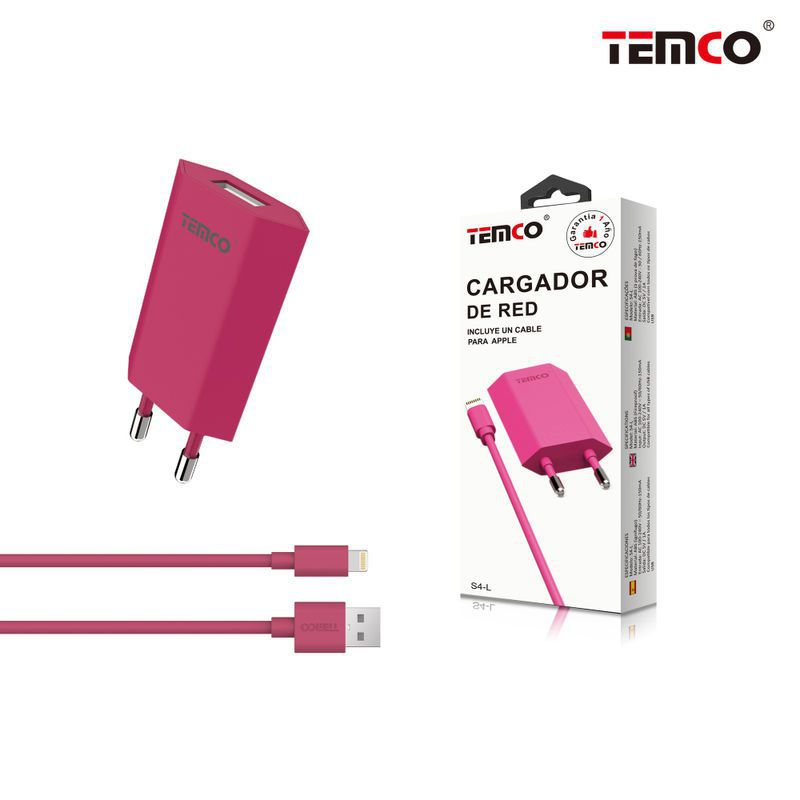Charger U5V1A + Apple 5V1A1M Pink