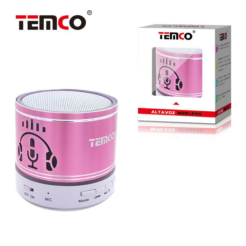 Mini Altavoz Bluetooth Cascos Fucsia
