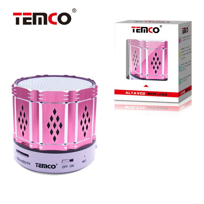 Mini Altavoz Bluetooth metalico Fuxia