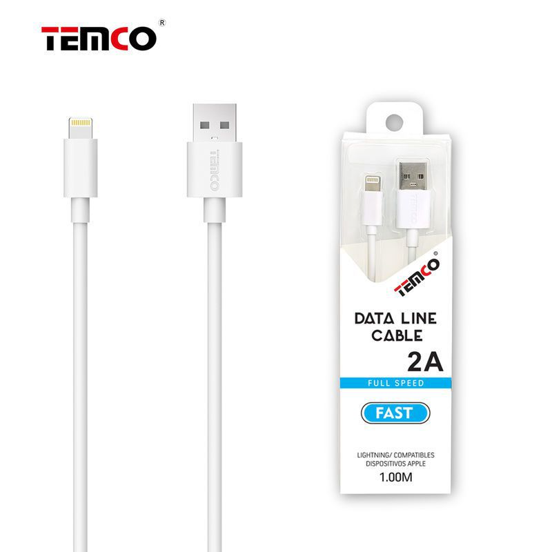 New Cable 5V 2A 1M Apple White