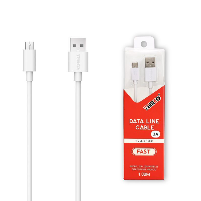 New Cable 5V 2A 1M Micro USB 5P White