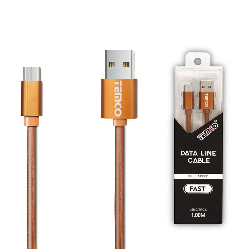 New Cable 5V 1A 1M Type C Brown