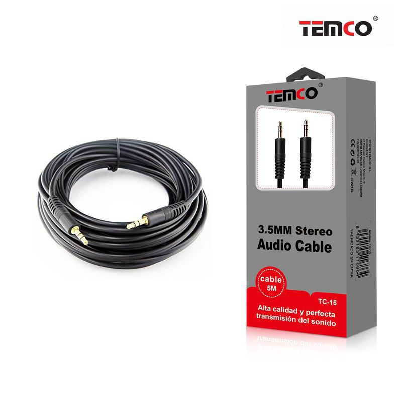 Audio Cable 3.5mm Male-Male 5M