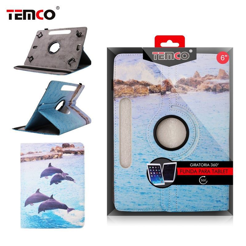 Dolphins Universal 6.0 Tablet Case