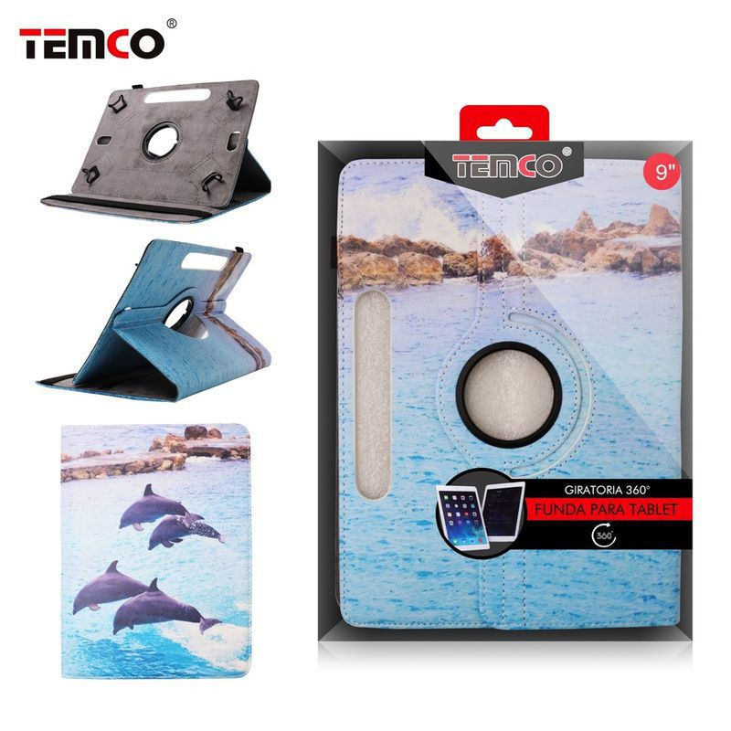 Tablet Universal 9.0 Dolphins case