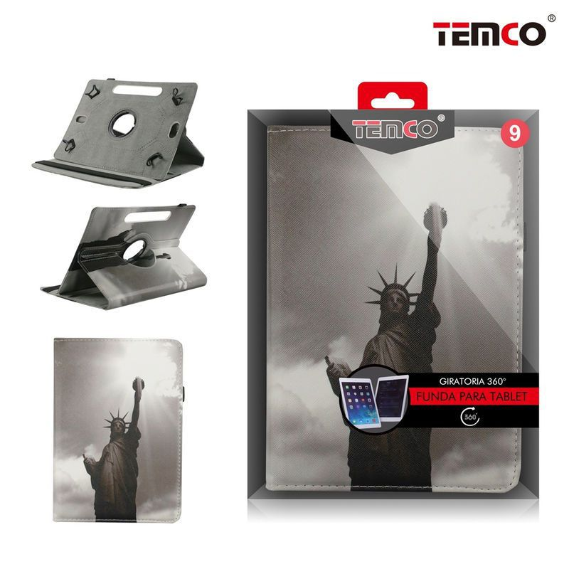 Funda Tablet Universal 9.0 Statue of Liberty