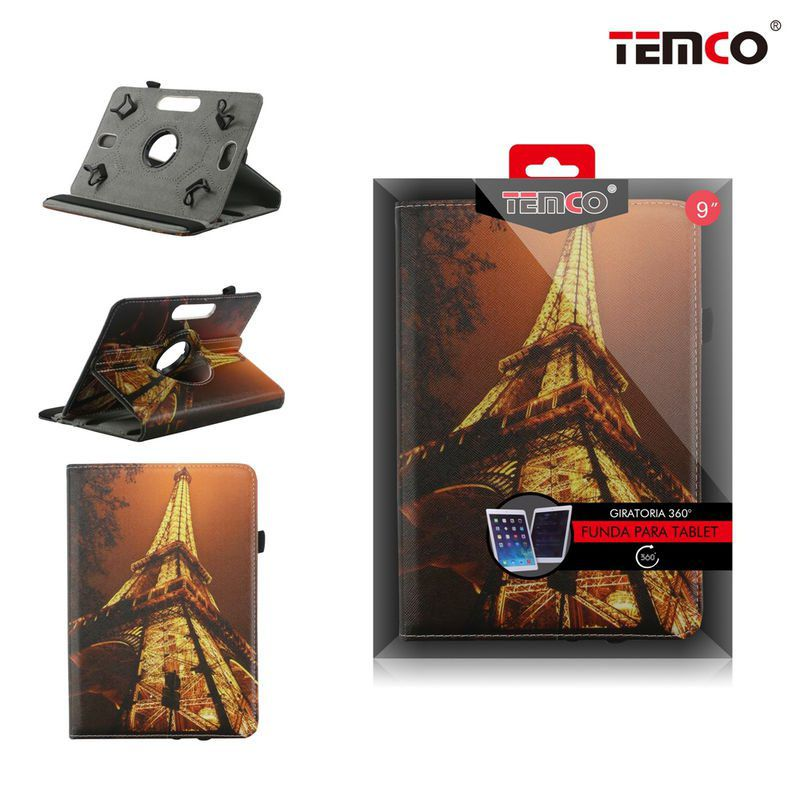 Tablet Universal 9.0 Eiffel Tower Case
