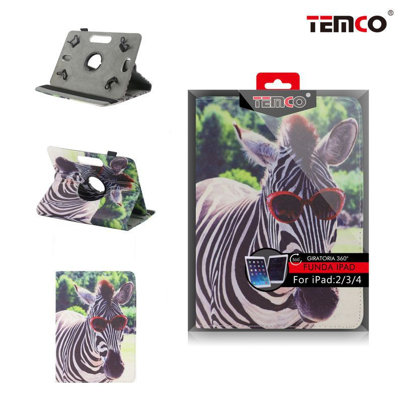 Funda iPad 2 / 3 / 4 Zebra