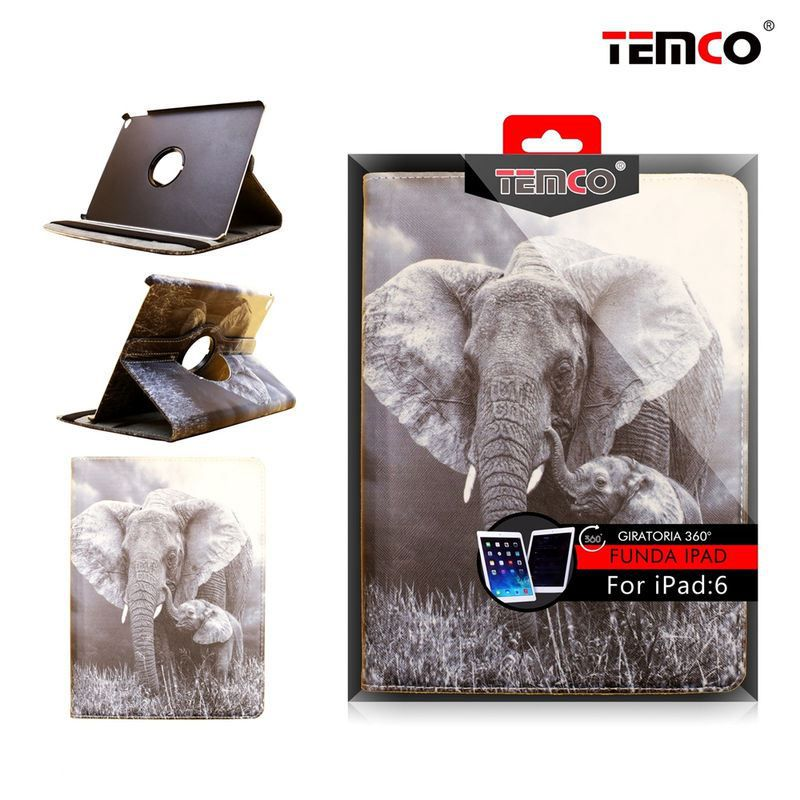 Funda iPad 6 Air Elephant