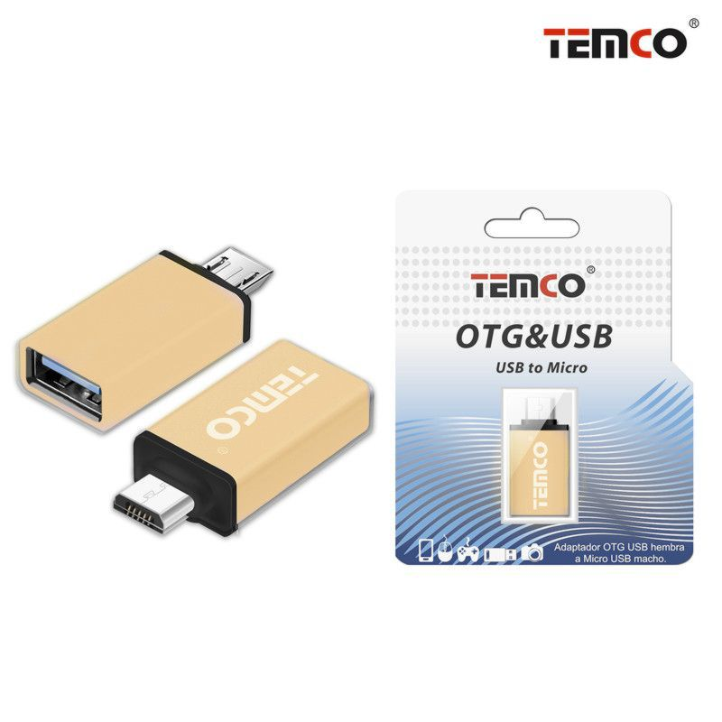Adapter OTG H to Micro USB M Rose Gold