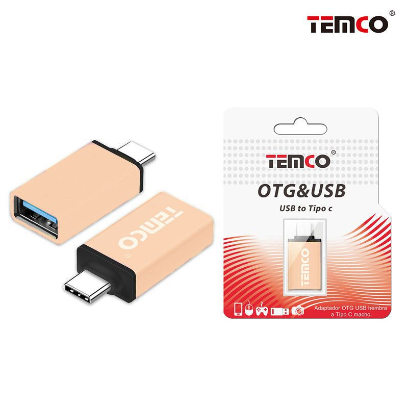 Adapter OTG female to Type C male Rose Gold