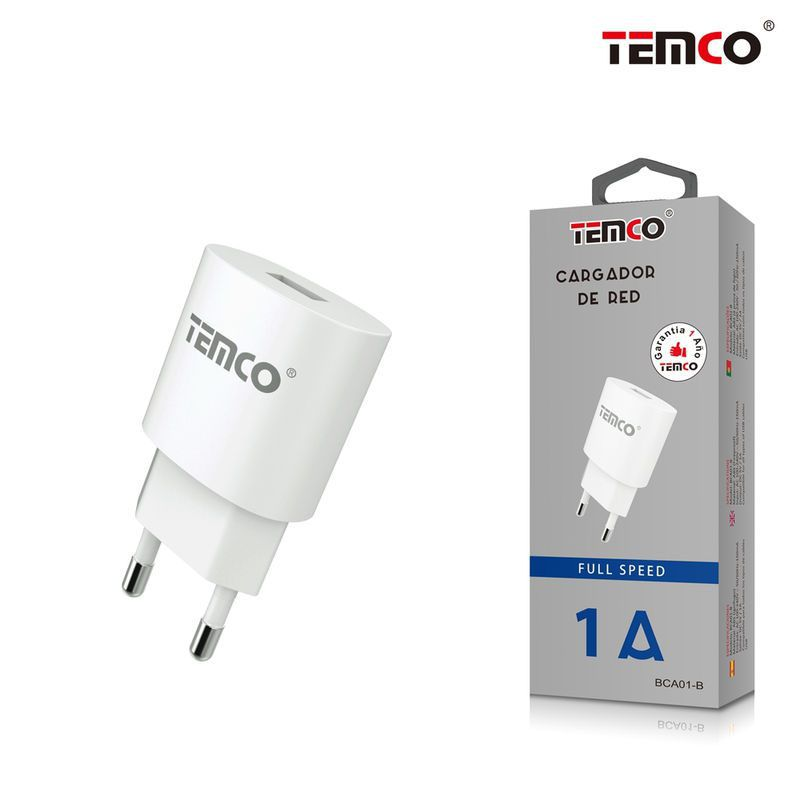 new adaptador cargador red u5v1a blanco