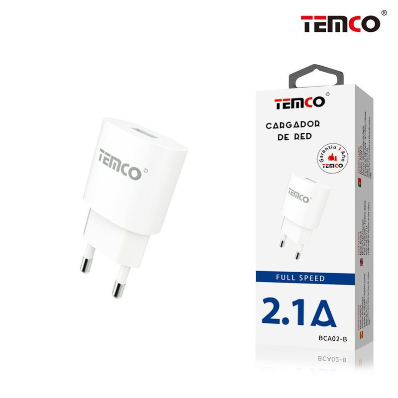 new adaptador cargador red u5v2.1a blanco
