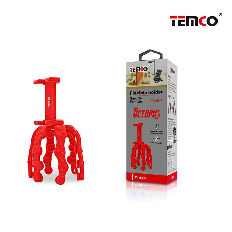 soporte flexible octopus rojo