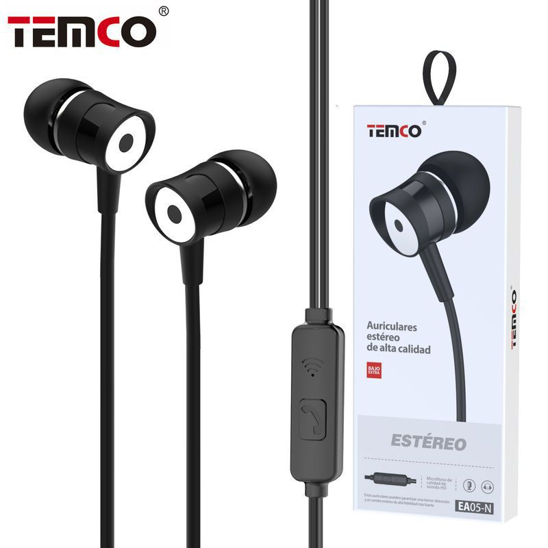 auriculares 3.5mm ea05 negro