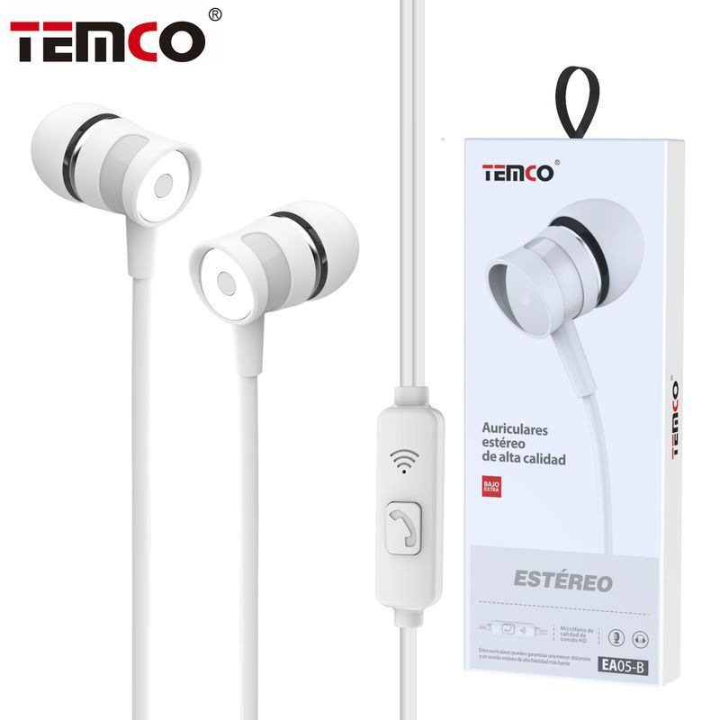 Auriculares 3.5mm EA05 Blanco