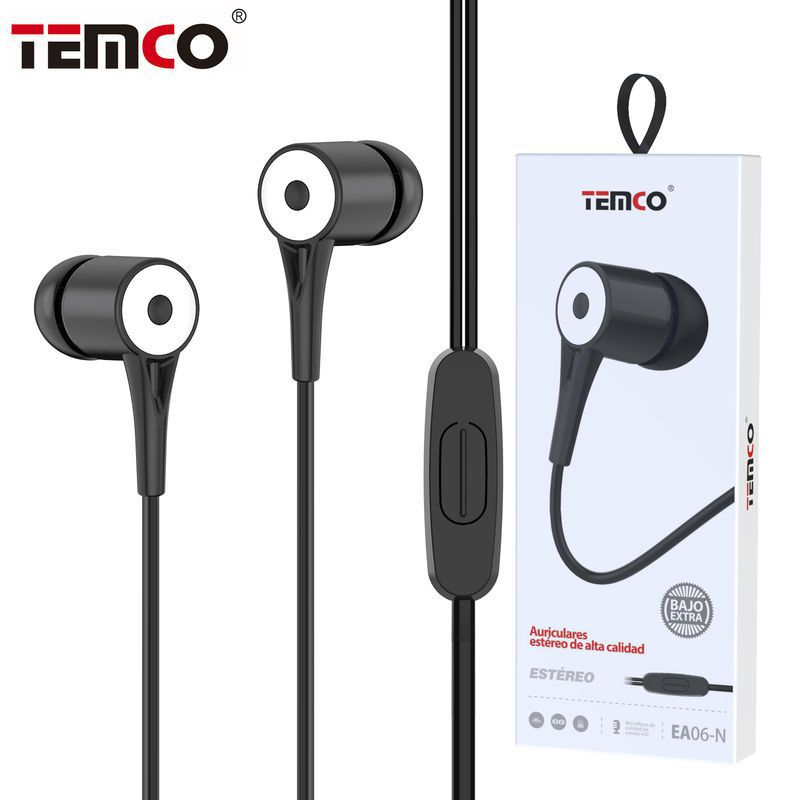 Auriculares 3,5mm EA06 Negro