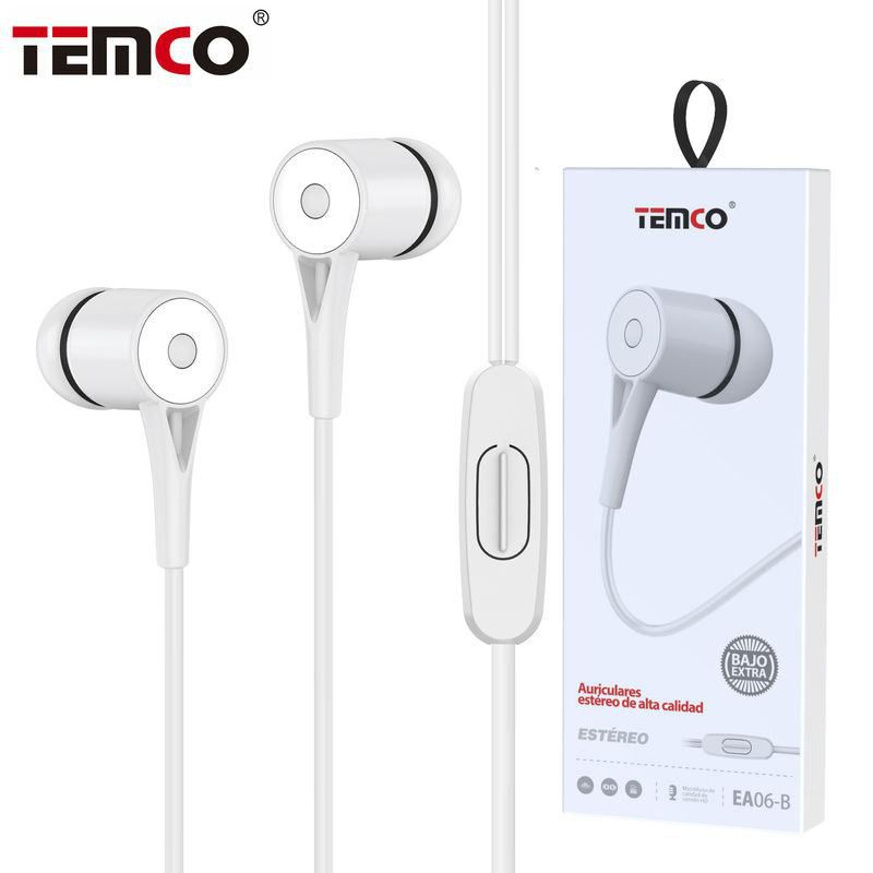 Auriculares 3,5mm EA06 Blanco