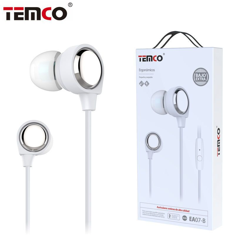 Auriculares 3,5mm EA07 Blanco
