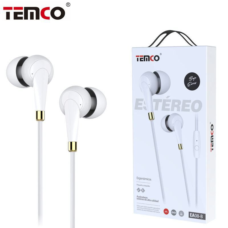 Auriculares 3.5mm EA08 Blanco