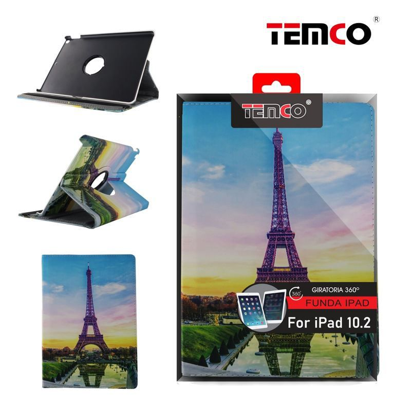 Funda iPad 10.2'' Color Eiffel Tower