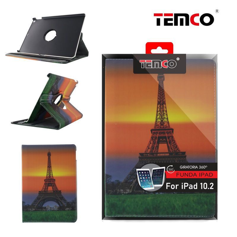 Funda iPad 10.2'' Sunset Eiffel Tower