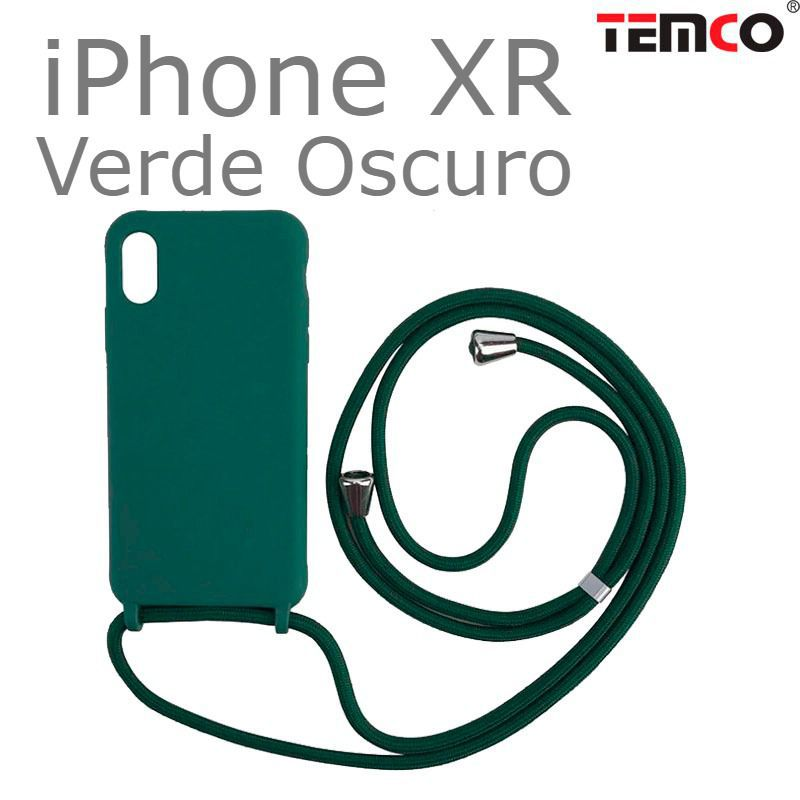 Funda Colgante iPhone XR Verde Oscuro