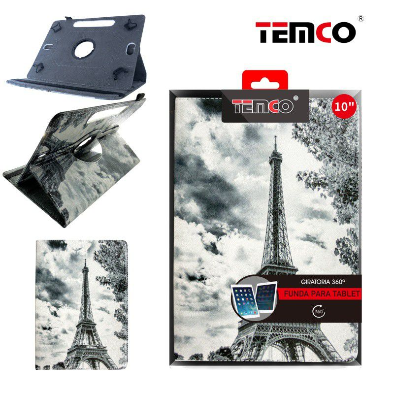 Funda Tablet Universal 10,0'' White Eiffel Tower