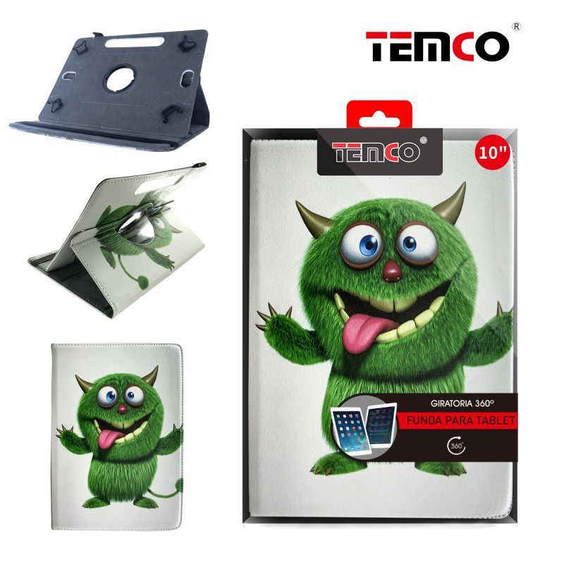 Funda Tablet Universal 10,0'' Green Monster