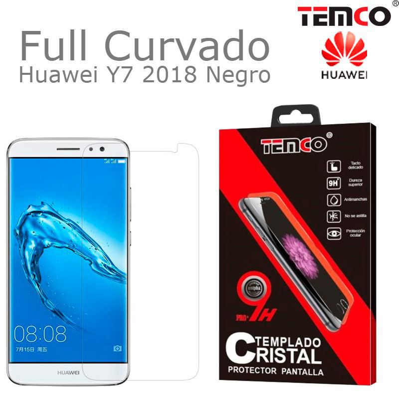 Cristal Full 3D Huawei Y7 2018 Negro