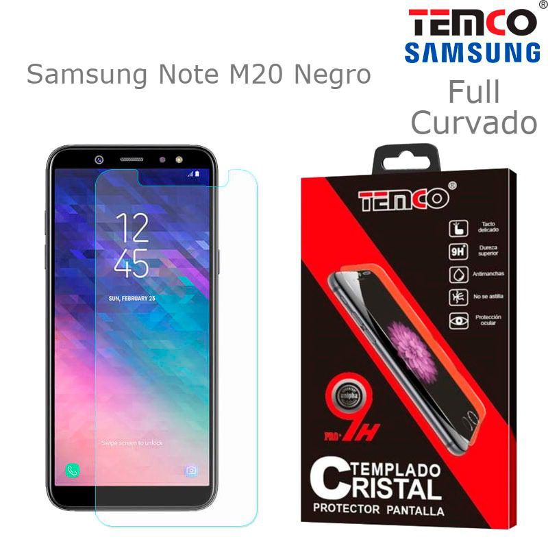 Cristal Full 3D Samsung Note M20 Negro