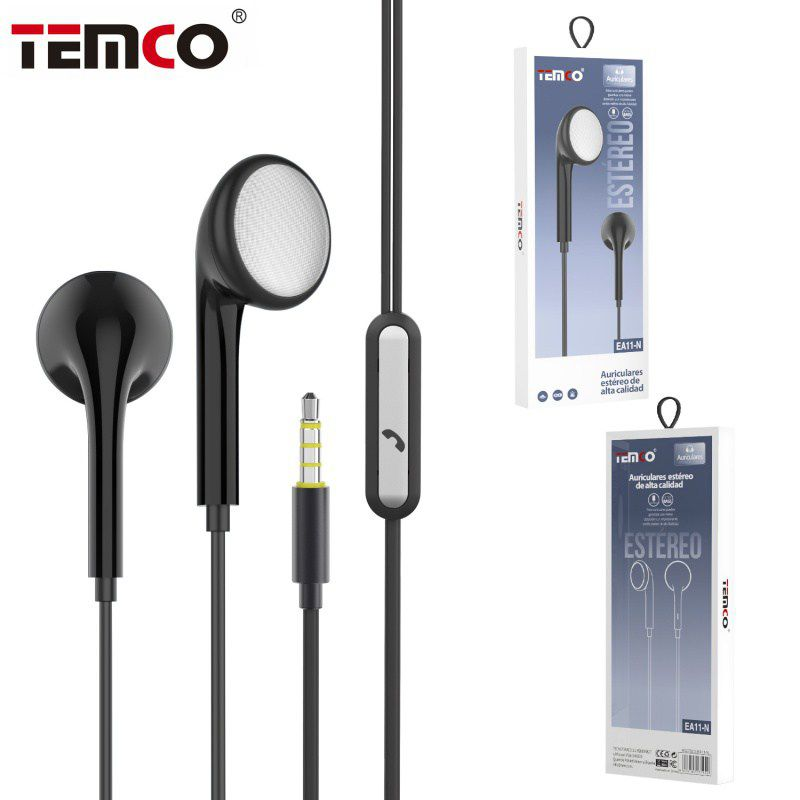 Auriculares 3.5mm EA11 Negro